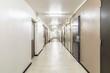 Corridor between rooms in old apartment building