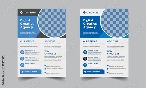 Digital Creative Agency corporate flyer Template