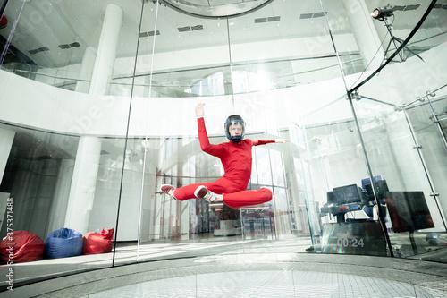 Levitation in wind tunnel Fototapeta
