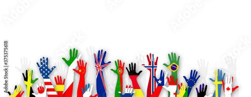 Fotografering mani, bandiere, lingue, lingue del mondo
