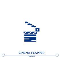 Cinema Flapper Icon On White B...