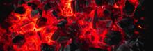 Hot Red Coals Among Black Ash,...