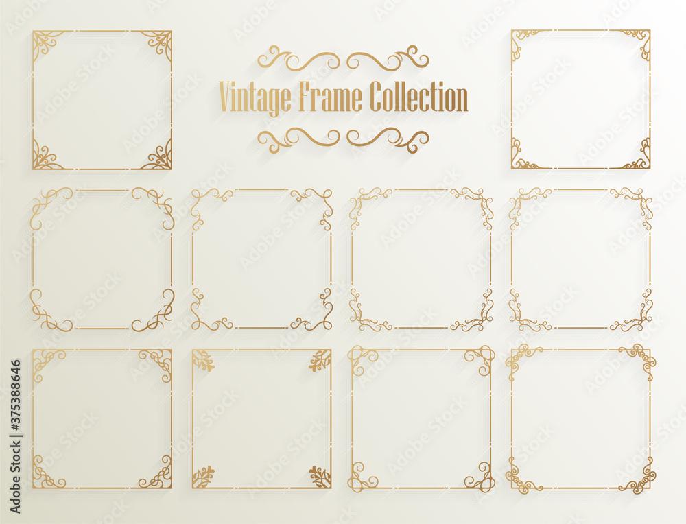 Fototapeta Vintage ornamental frame collection