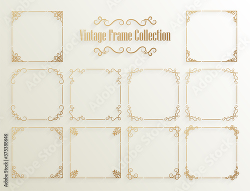 Obraz Vintage ornamental frame collection - fototapety do salonu