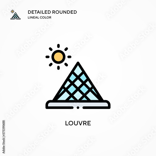 Louvre vector icon Poster Mural XXL