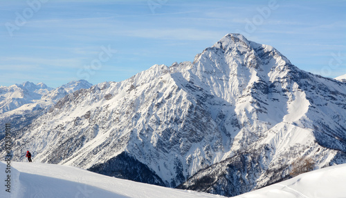 Fotografija Mount Chaberton is 3,131 meters high and is a mountain in the Cottian Alps located in the French department of the Hautes-Alpes but overlooks the Susa Valley in Italy