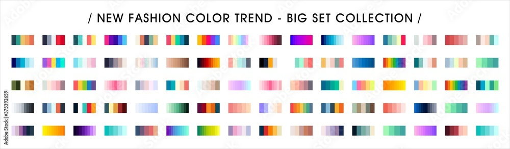 Fototapeta Fashion Color trend. Color Palette Swatches Vector Design. Forecast of the future color trend.