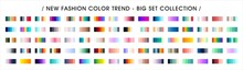 Fashion Color Trend. Color Palette Swatches Vector Design. Forecast Of The Future Color Trend.