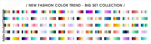 Obraz Fashion Color trend. Color Palette Swatches Vector Design. Forecast of the future color trend. - fototapety do salonu
