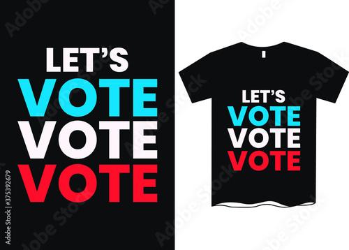 Lets vote - US Election T-Shirt, 2020 US President Election T-Shirt, USA Preside Canvas Print
