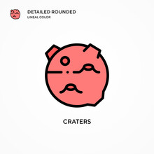 Craters Vector Icon. Modern Ve...