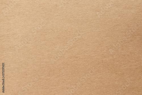 Fototapeta Brown kraft paper texture background, pattern of handmade cardboard sheet in old and vintage style
