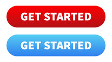 Get Started Button. Vector Iso...