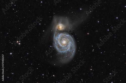 Fényképezés M 51 whirlpool galaxy
