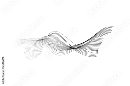 Fotomural Modern abstract background, curved lines