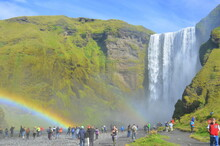 Rainbow Over The Waterfall Sko...
