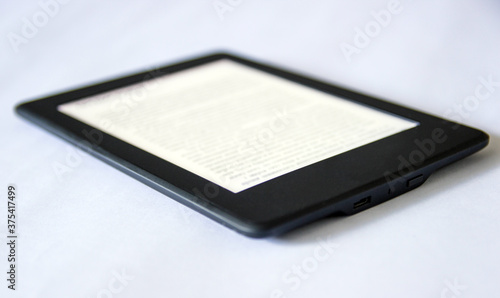 Vászonkép e-book concept of reading e-books