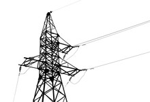 High Voltage Tower Isolated On...