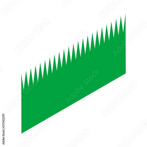 Fototapeta アイソメトリック図法で描かれたシンプルなお寿司のアイコンイラスト(草のような仕切り、バレン)