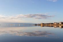 West Kirby Marine Lake At Sunset