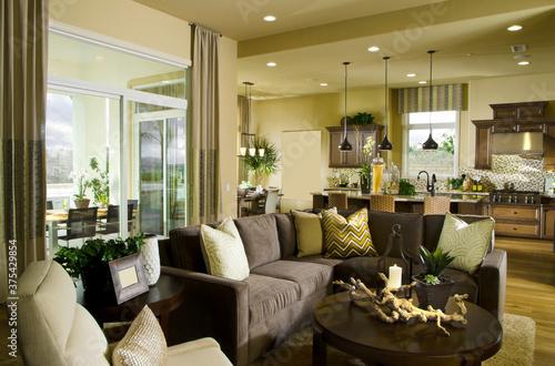 luxury modern home interior Living room of house Fototapeta