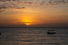 Orange Sunset Over The Indian ...