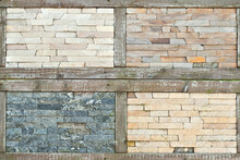 Texture Of Brick Wall And Conc...