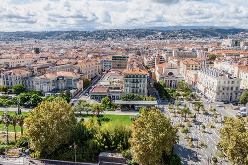 Obraz na plátne Panorama à 360° depuis le clocher de la tour saint François à Nice