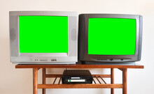 Two Antiquated Vintage TVs Wit...