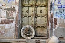 Old Wooden Door To Aged Ancien...