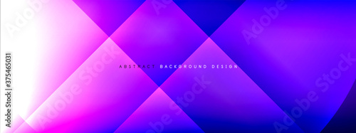 Vector abstract background - circle and cross on fluid gradient with shadows and light effects. Techno or business shiny design templates for text