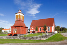 Church Building Located In The Swedish Town Kalix.