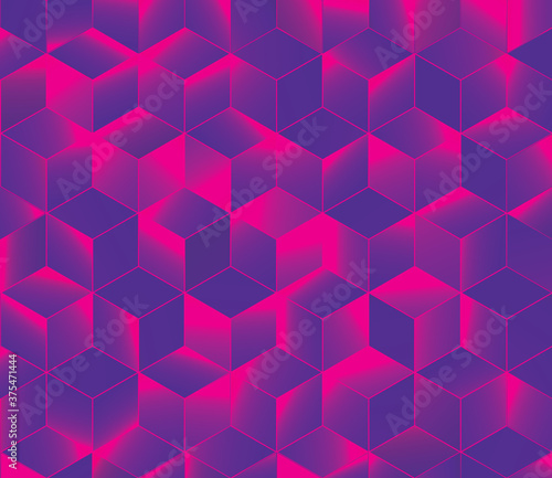 Fotografija Abstract seamless Colorful cubes Background