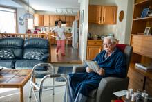Home Caregiver Walking Toward ...