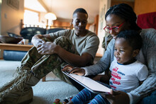 Military Family With Digital T...