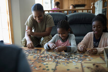 Mother And Daughters Assemblin...