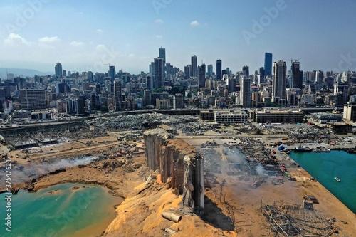 Naklejka premium Wybuch w Bejrucie