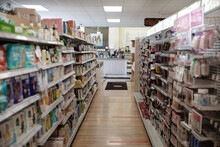 Drugstore Aisle With Social Di...