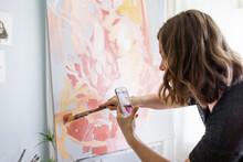 Artist Videoing Her Brush Stro...