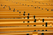 Wet Yellow Benches