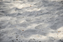 Sand With Tiny Debris Close-up View As Background, Texture