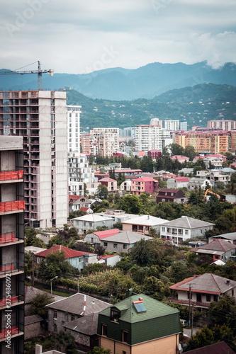 Photo Residential suburbs of Batumi city. Batumi. Georgia