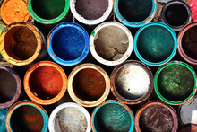 Old Dirty Metal Paint Cans As ...