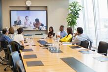 Business People Video Conferen...