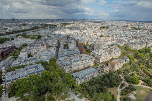 Tablou Canvas Vue aérienne de Paris