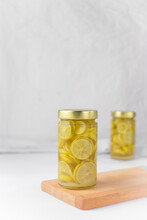 Sliced Preserved Limes In Sugar Syrup