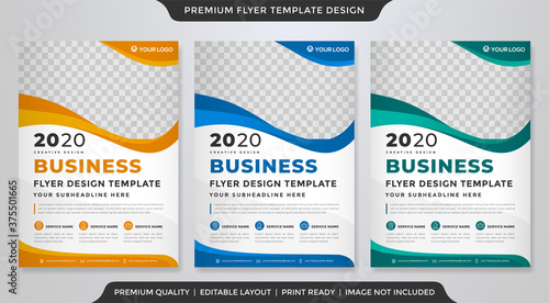 Tablou Canvas business flyer template design with minimalist concept and clea style use for co