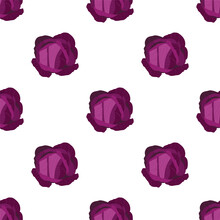Red Cabbage. Fresh And Healthy Food.