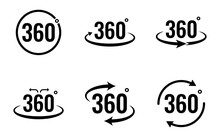 360 Degree View Icon Set - Vec...
