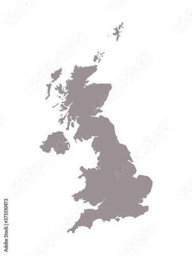 Carta da parati United Kingdom blank map silhouette